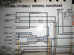 Yamaha OEM Factory Color Wiring Diagram Schematic 1984