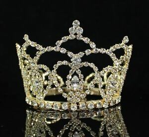 small size heart rhinestone hair crown tiara party prom bridal wedding m289 gold ebay
