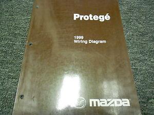 1999 Mazda Protege Electrical Wiring Diagram Service Repair Shop Manual OEM 99