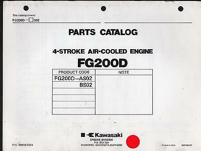 KAWASAKI FG200D 4 STROKE AIR COOLED ENGINE PARTS MANUAL P