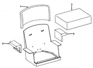 New Seat Made To Fit John Deere Crawler Dozer 420 430 440