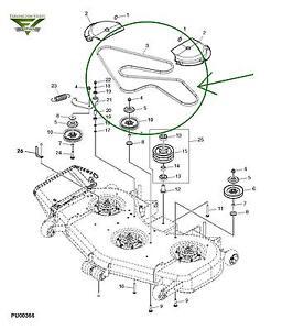 John Deere 790 Tractor Wiring Diagrams John Deere 737 757 777 797 Ztrack 60 Inch Mower Deck Belt