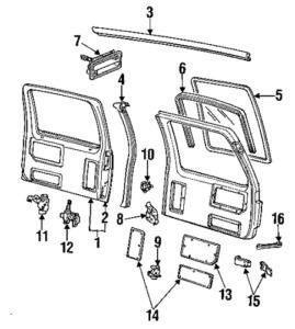 Genuine Chevrolet GM Back Door Control Assembly Left