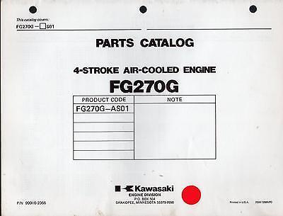 KAWASAKI FG270G 4 STROKE AIR COOLED ENGINE PARTS MANUAL P