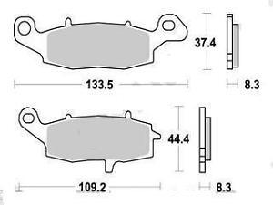 Jeu 2 plaquettes frein Avant coté Gauche Suzuki DL 650 V