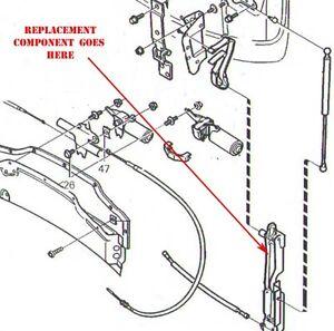 volvo c70 convertible top bonnet lid arm permanent repair