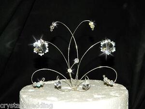 Swarovski Elements Crystal SNOWFLAKE Wedding Cake Topper
