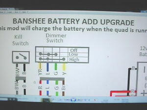 Yamaha Banshee Stator Battery Ugrade Wiring Diagram Engine Motor