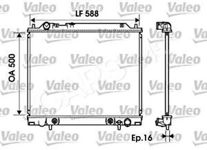 VALEO Engine Cooling Radiator 734146 Fits MITSUBISHI L Bus