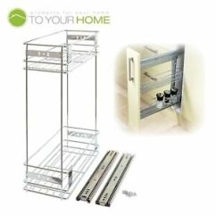Kitchen Wire Storage Utilities 200mm Pull Out Basket Larder Base Unit Cupboard Drawer Image Is Loading