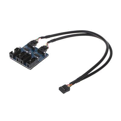 9-Pin USB 2.0 Port Header Male 1 To 4 Female Splitter PCB