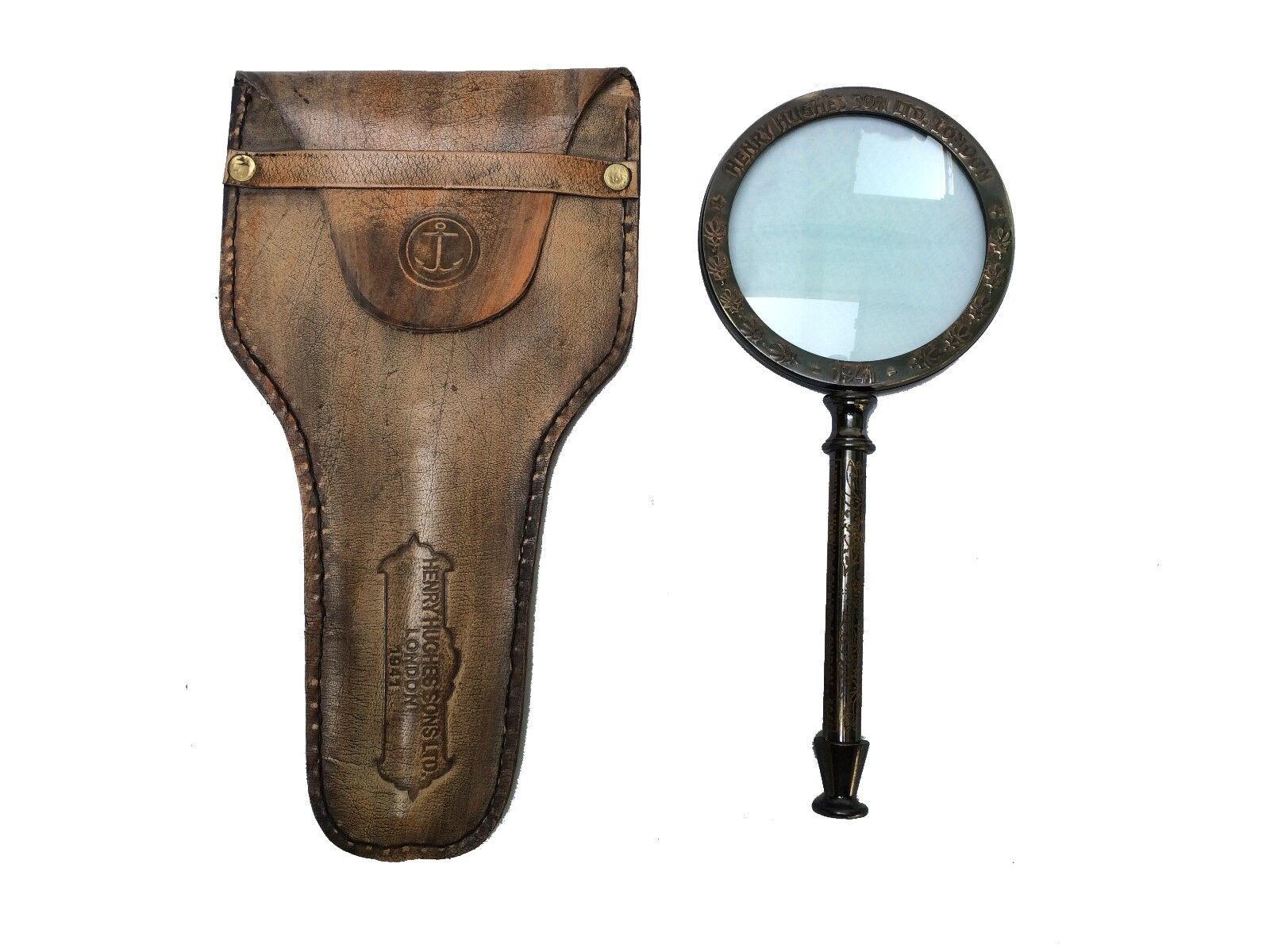 Antique Brass Magnifier Magnifying Glass Collectible