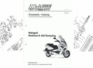 Spare Parts List, Catalog Malaguti Madison K 400 et