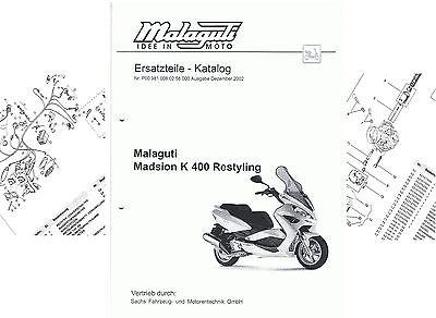 Ersatzteilliste , Ersatzteilkatalog Malaguti Madison K 400