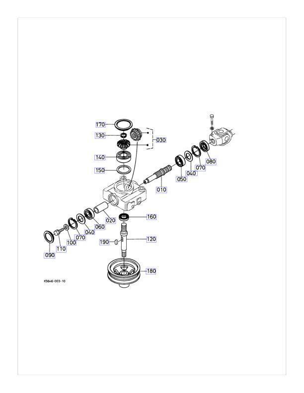 New OEM Kubota Gearbox Repair Kit K5615-33106 Fits RCK54
