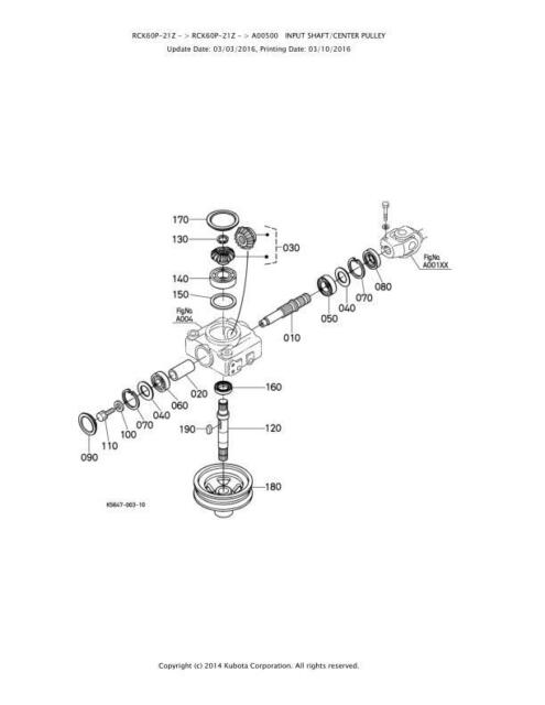 Repair Kit For RCK60P-21Z K5681-33104 Gearbox Pulley