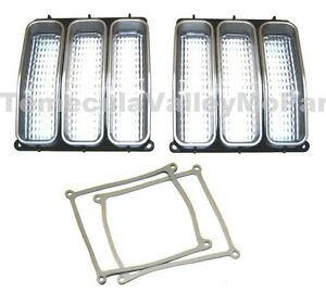 Parking Light Lenses & Gaskets for 1971-1972 Plymouth