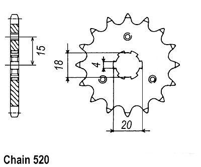 HONDA ATC200M ATC 200 M NEW 11 TOOTH FRONT SPROCKET 1984