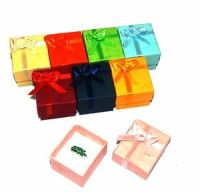 8 Pastel Ribbon Ring Gift Boxes Jewelry Display 8 Asst