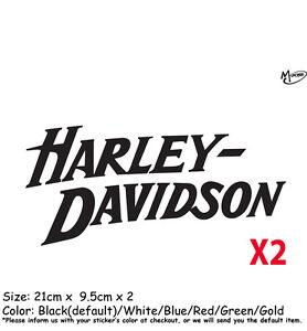 2 Pcs Harley Davidson Stickers Reflective Motorcycle