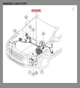 Hyundai Santa Fe engine bay wiring harness with fuse block
