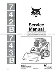 Bobcat 742B and 743B 2012 Update Skid Steer Printed
