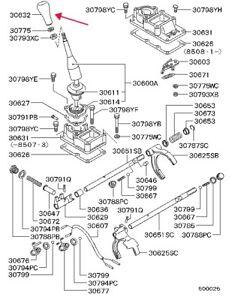 NOS Genuine Mitsubishi Montero Pajero mk1 MB711923 KNOB, T