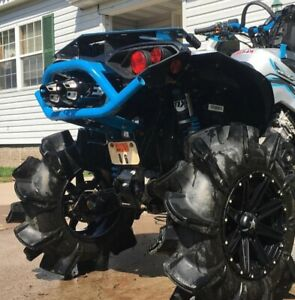 details about can am renegade xmr 1000 empire dual slip on aftermarket exhaust black pipe fast