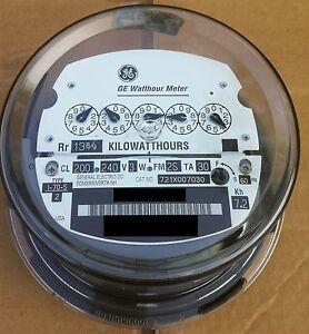 ge kilowatt hour meter wiring diagram alternator welder electric watthour kwh type i70s i 70s fm 2s 240v image is loading