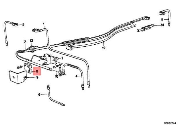 Genuine BMW M3 CMS E30 318i 318is 320i 320is Battery Cable