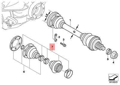 Genuine BMW E36 Z3 Rear Outer Drive Shaft CV Boot Repair