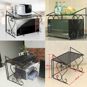 kitchen counter rack inexpensive table sets microwave oven organizer cabinet storage sturdy image is loading