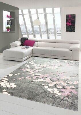 https www ebay fr itm tapis designer salon tapis motif floral rose gris 273850579306