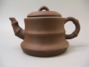 Chinese Yixing Zisha Clay Bamboo Shape Teapot
