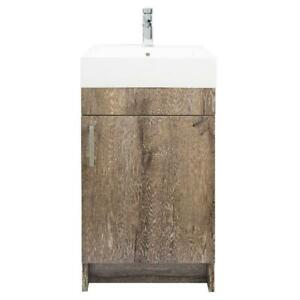 details about mainstays farmhouse 17 75 inch rustic grey single sink bathroom vanity with top