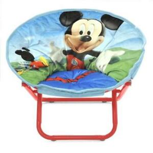 saucer chair for kids and a half rocker new disney mickey mouse toddler toy gift play image is loading