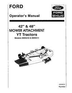 NEW HOLLAND Ford 42 and 48 Inch Mower Attachment for YT