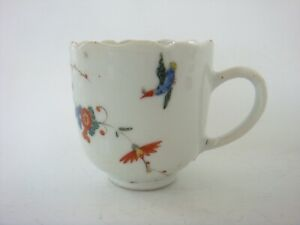 CHINESE PORCELAIN 18TH CENTURY QIANLONG RARE KAKIEMON DECORATED COFFEE CUP C1755