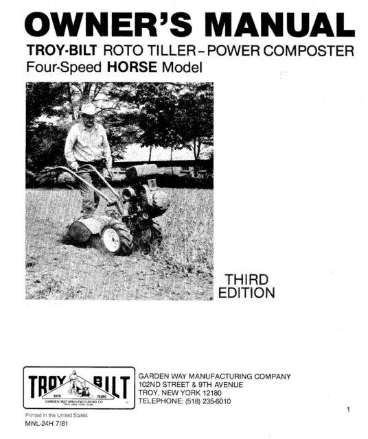 1980's Troy bilt Roto Tiller-Power Composter Owners