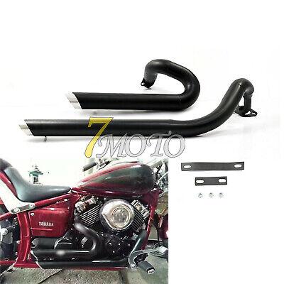 shortshots staggered exhaust pipes kit for yamaha v star 650 xvs650 dragstar ebay