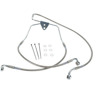 Extended Length Stainless Steel Brake Line Kit- Harley