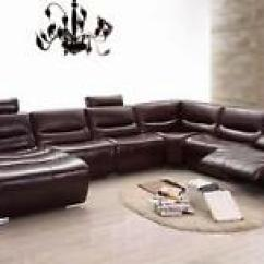 Sectional Sofas And Recliners Ikea White Sofa Bed Modern Dark Brown Genuine Italian Leather Recliner Image Is Loading