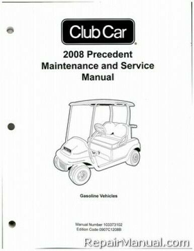 Club Car Precedent Gas Golf Cart Maintenance Service