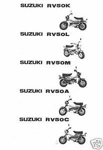 sale onlinestore SUZUKI Parts Manual RV50 Van Van 1973