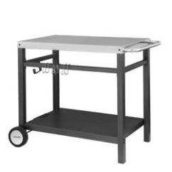 Kitchen Prep Cart Maple Cabinets Royal Gourmet Bbq Work Table Outdoor Storage Image Is Loading