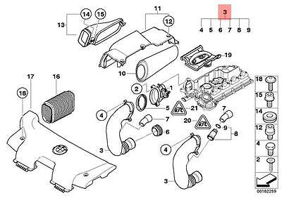 Genuine BMW E87 E90 E91 5 doors Intake Air Breather Tube