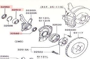 Genuine Mitsubishi OE Front Wheel Bearing & Seal Kit