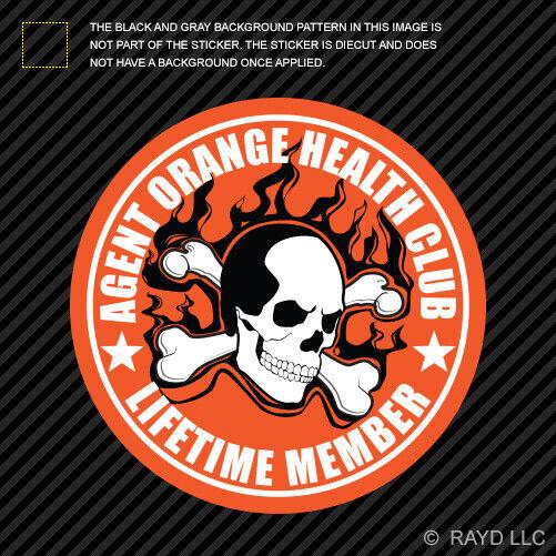 Agent Orange Health Club Sticker vietnam veteran vet lifetime member   eBay