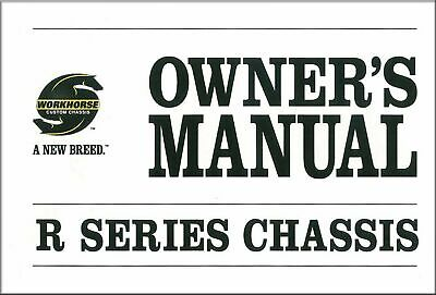 OEM Maintenance Owner's Manual Bound for Workhorse R