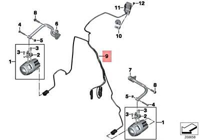 Genuine BMW K53 0A14 Wiring Harness For LED Additional